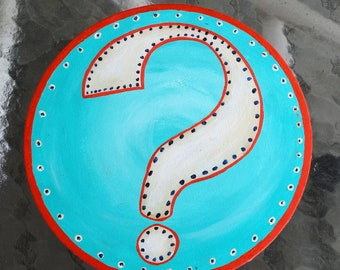 Etsy inspired Sideshow style banner bullet painting