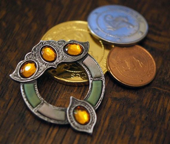 The Professor's Pebble Brooch - Metal