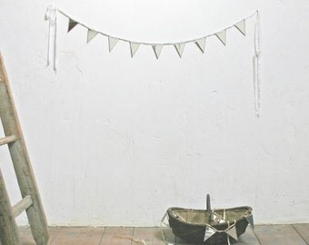Mirrored Bunting Garland - Rustic Romantic French Decor MADE TO ORDER