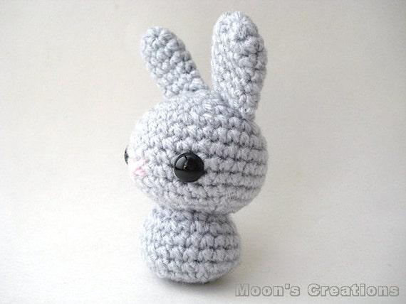 Grey Moon Bun Amigurumi Bunny Rabbit Doll