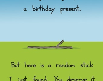 Happy Birthday Stick Card