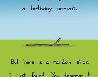 Happy Birthday Stick Card