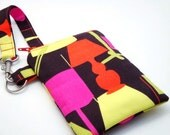 Padded Gadget Case for iPod Touch, iPhone4 or Camera-Michael Miller Fabric