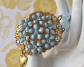 Vintage Flower Cuff Bracelet - Paloma