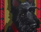 Scottie Dog Bookmark from Original Art  by Melody Lea Lamb