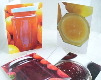 Greetings Card  Food Photography Blank Card Set of 4 Cards