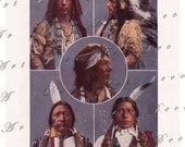Indian Chieftans...instant download...1904 encyclopedia print... digital image  no. 791