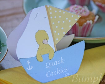 Food Signs x 4 - Little Duckling's Boat - pink or blue