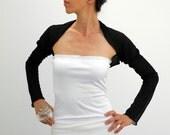 neo victorian bolero, black sheer shrug, long sleeved