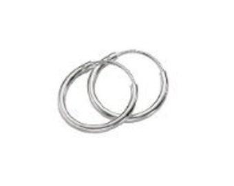 HOOP EARRINGS Sterling Silver ( 2 Pairs)