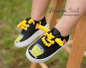 Halloween shoes - Hand painted frankenstein and candy corn sneakers for fall for boys or girls, infant and toddler