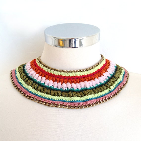 Maasai bib inspired necklace