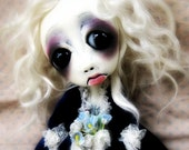Loopy Ooak Doll  Gothic Art Halloween Decoration Art Doll Xenia RESERVED for LC