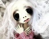 Loopy Gothic Art Doll Ooak Creepy Valentine Giclee Print