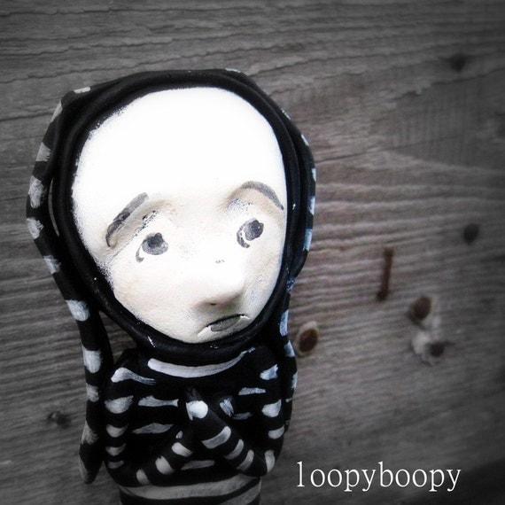 Loopy OOAK Art Doll Worry Rudy Halloween Doll