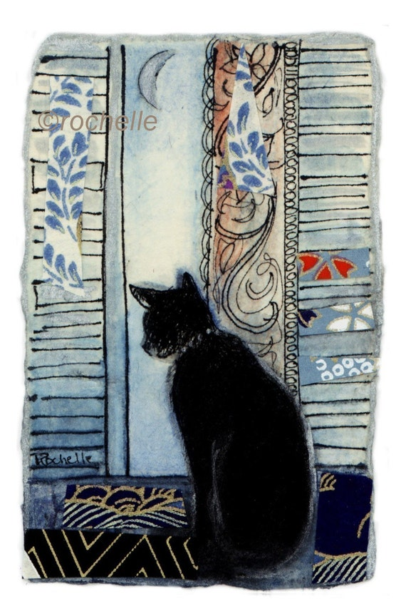 Cat in Window Print