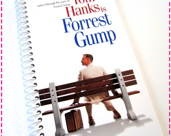 FORREST GUMP with Tom Hanks VHS Movie Video Original Recycled Notebook / Upcycled Journal - Autism Awareness Eco Friendly - Circa 1995-