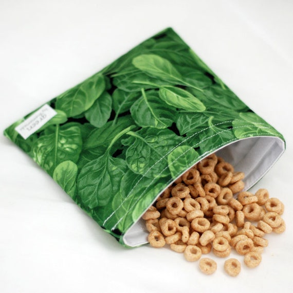Spinach - green by mamamade Eco-Friendly Reusable Sandwich Bag