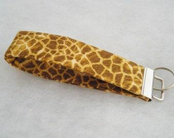 Key Fob wristlet - Giraffe