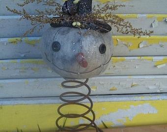 Primitive Snowman Nodder