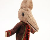 Big Bad Wolf Art Doll, Hand Embroidered, Little Red Riding Hood