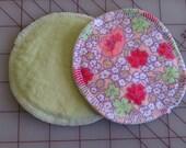 Vintage Melon Flowers with Mint Nursing Pads