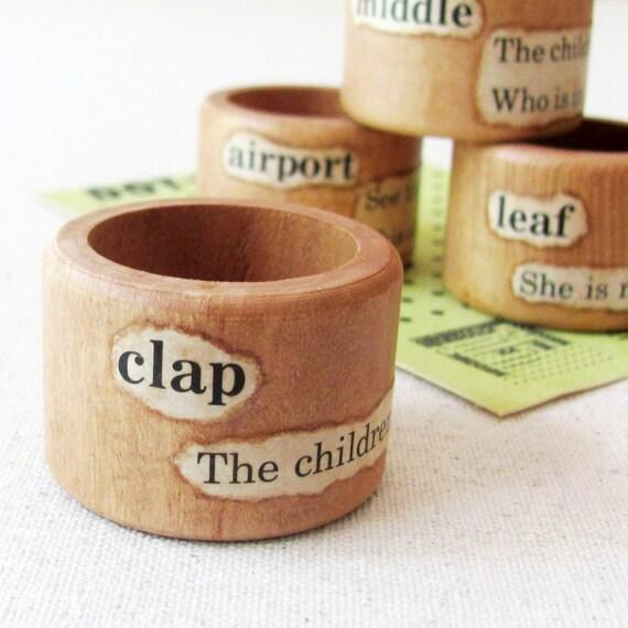 Napkin Rings-handmade by humbleBea