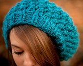 Instant Download Knitting Pattern - Knit Hat Pattern for Odessa Beret Pattern - Womens Hat Pattern - Womens Accessories