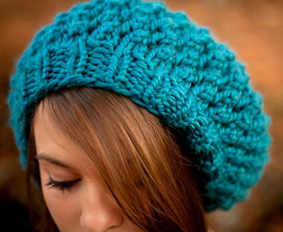 Knitting Patterns For Berets And Hats : Instant Download Knitting Pattern Knit Hat Knitting by pixiebell