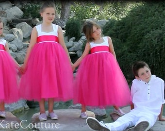 Custom Colors . Flower Girl Dresses