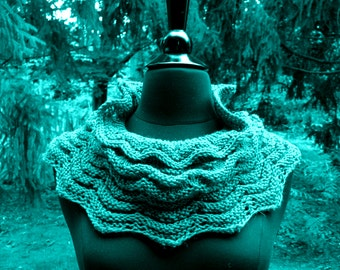 Neck Scarf  Seagreen Teal Wool