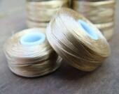 Wholesale Sand Nymo Thread, Size 37-5 (D), 2 Spools, 48 Yards each