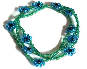 mystical forest blue-green daisy chain