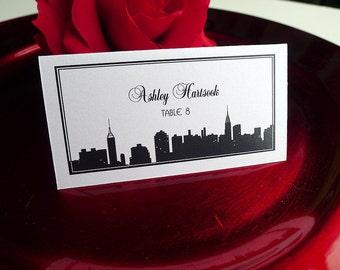 Classic Manhattan Skyline Escort Cards