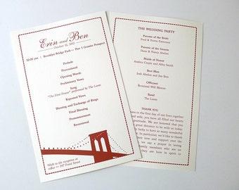 Brooklyn Bridge Ceremony Program Panels
