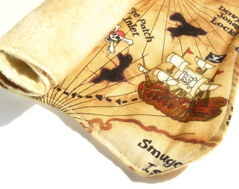 Cloth Treasure Map - Fabric Pirate Map - Pretend Play - Pirate Party Favor - Pirate Costume Accessory - Placemat - Handmade Toy Gift