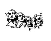 Mount Rushmore Rubber Stamp United States Presidential Memorial Large