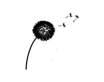 mini Dandelion Rubber Stamp
