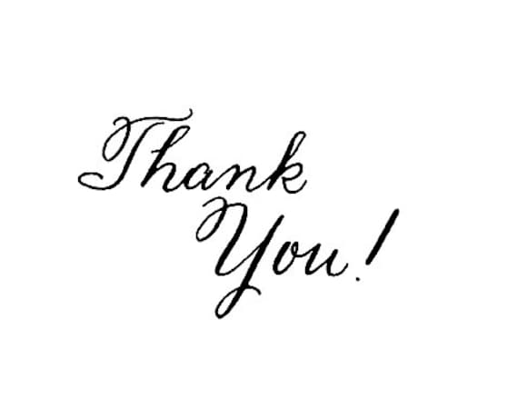 Clearance Thank You Calligraphy Rubber Stamp