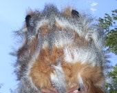 Guinea Pig Fur Hat Wild Fairy Furrry Hat Ready to Ship Small to Medium Kid or Adult
