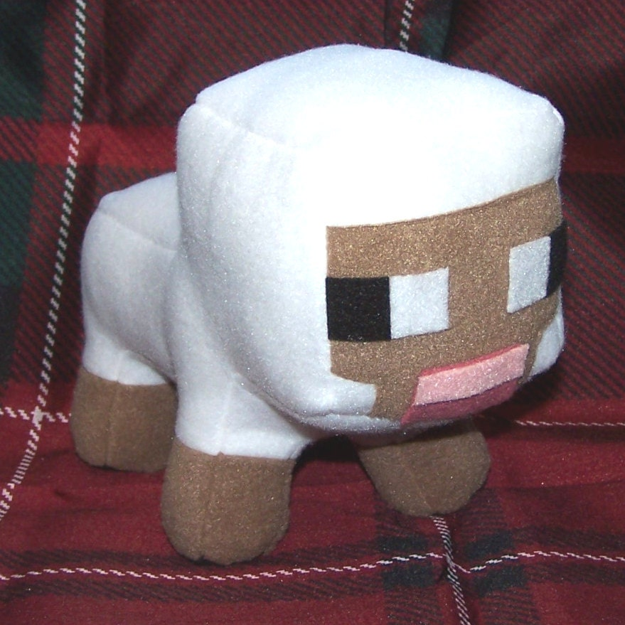 Minecraft Sheep Lamb Plush By Closetmonsterstoys On Etsy