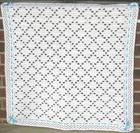 pdf pattern crocheted baby afghan diamond lace baby