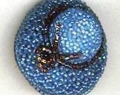 Blue Hat Beadwoven Brooch . OOAK Melbourne Cup . Beaded Hat Bead Lace & Ribbon . Classy Sun Hat - Love the Blue Sky by enchantedbeas on Etsy
