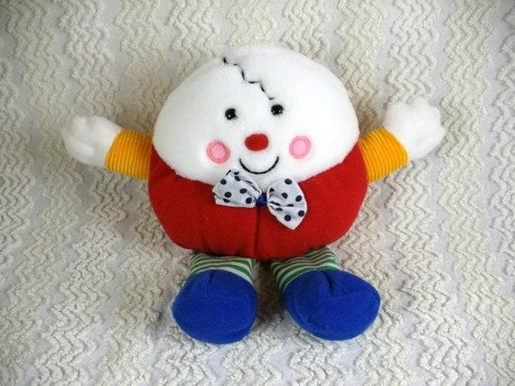 Dakin Humpty Dumpty Plush Doll - Musical Rattle - 1992  - Alice in Wonderland - Nursery Rhyme