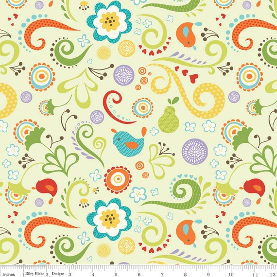 NEW Riley Blake Designs, Good Life,  Main Green Fabric - By the Yard