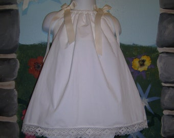 Antique white or white  portrait dress bloomers headband set  your size 0-24  months