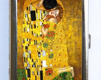 Klimt The Kiss Cigarette Case Wallet Business Card Holder Art Nouveau