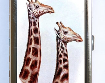 Giraffe Cigarette Case Wallet Business Card Holder zoo animals kitsch