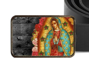 Virgen de Guadalupe Belt Buckle
