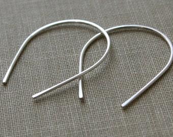 Forged Teardrop Sterling Silver Earrings